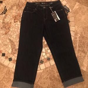 Style&Co Denim Curvy Fit Capri Jean - Size 4